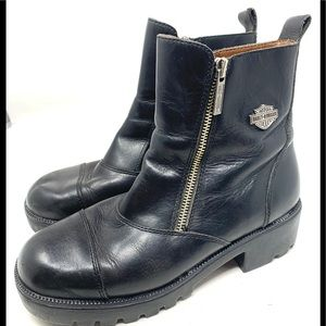 Harley Davidson Double Zip Black Boots 1983